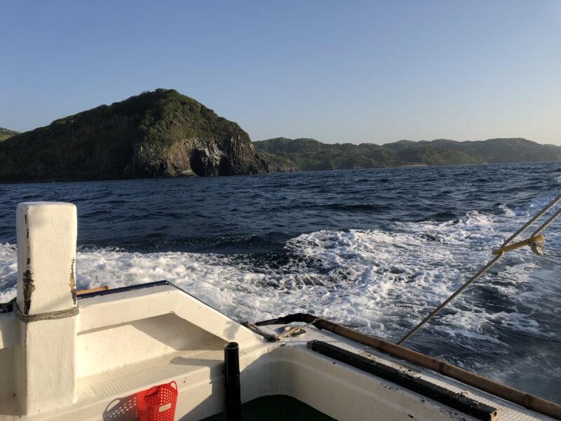 釣り場へ向けて出港!